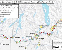 Lower Fraser First Nations Drift Net Map