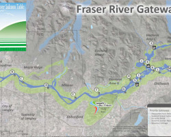 lower fraser river : gateways map